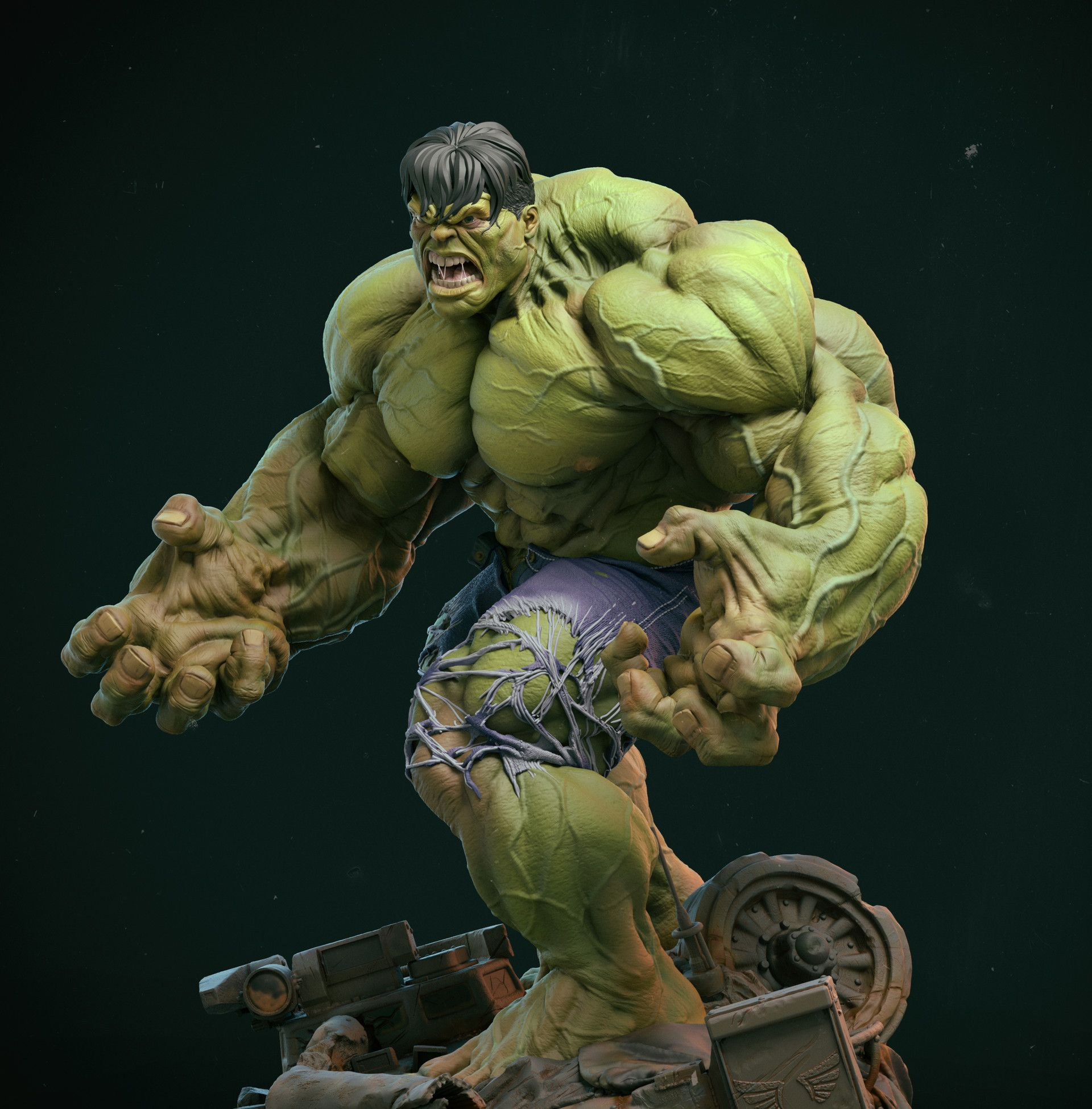 Artstation Green And Angry Who S That Gerard Kravchuk With