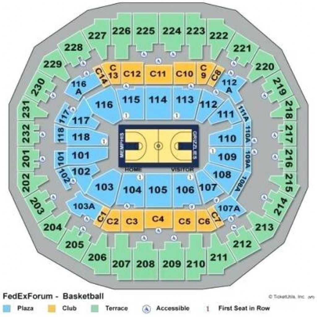 Forum In 2020 With Images Seating Charts Seating Fedexforum