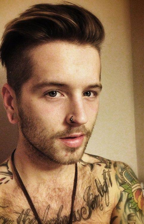 Que Me Ves Nose Ring Men Lower Lip Piercing Scruffy Men
