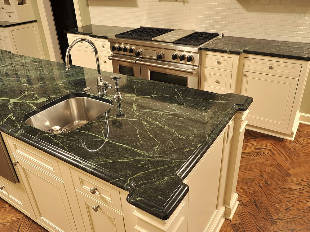 Vermont Verde Antique Kitchen Countertop