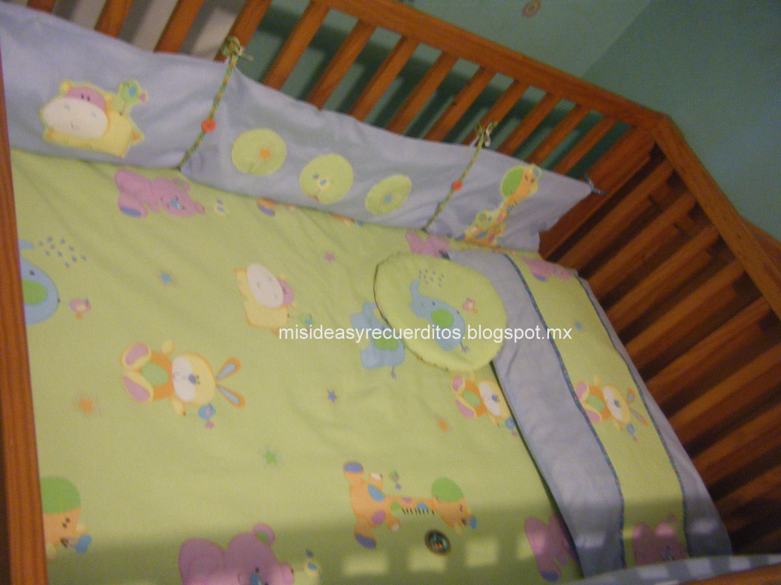 Juego sencillo de cama cuna corral para tus hijos fotos paso a paso para hacer este juego de - Juego de cama para cuna ...