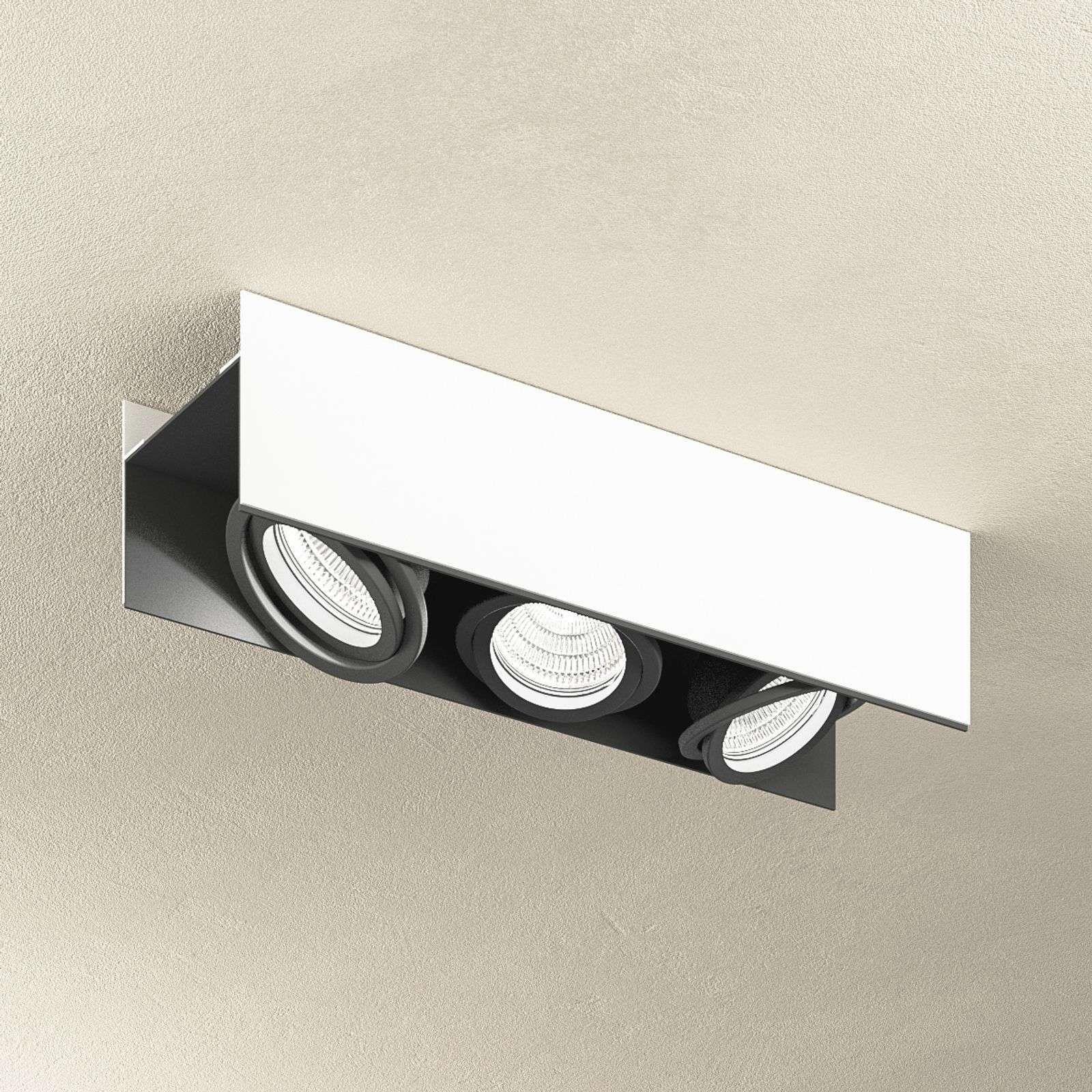 Plafonnier Avec Spots Led A 3 Lampes Vidago En 2020 Spot Plafond Plafonnier Led Plafond