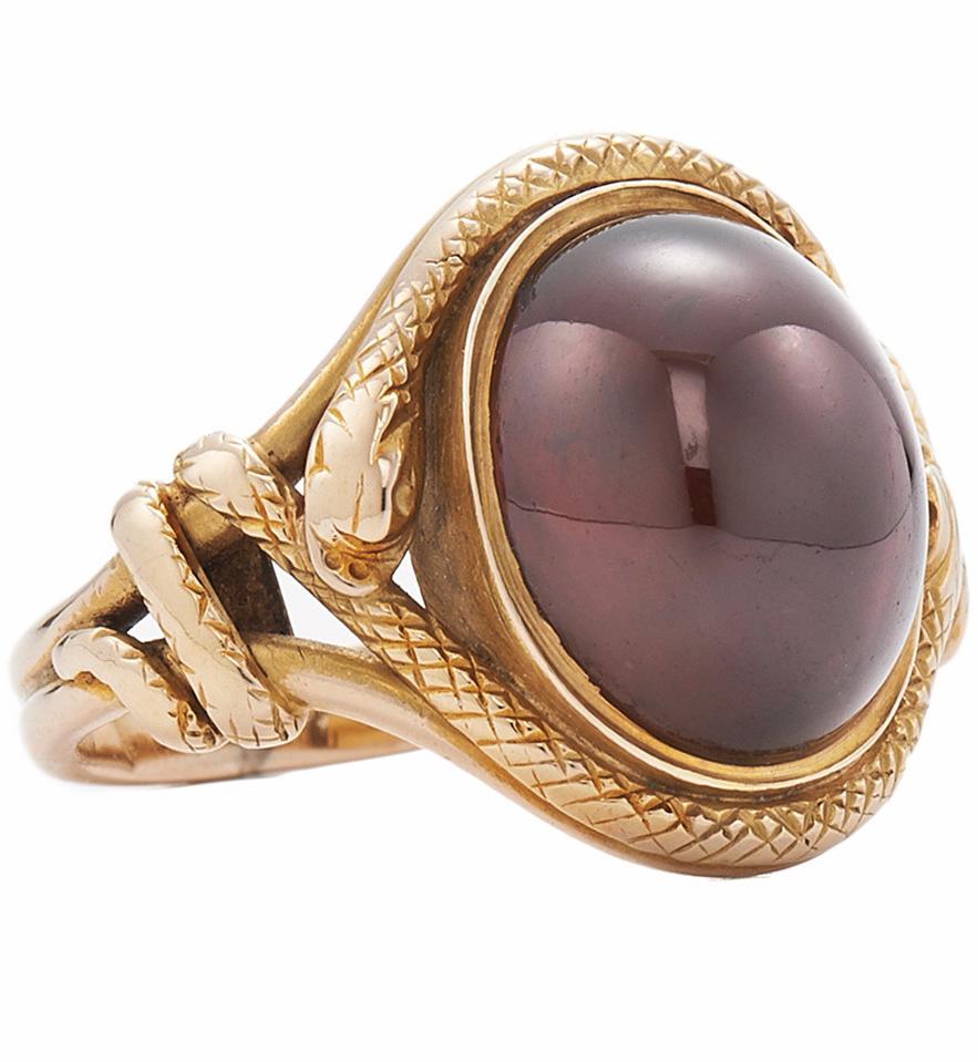 Victorian Garnet Gold Snake Ring Snake ring Snake and Victorian