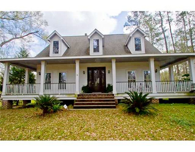 Beautiful acadian home favorite places spaces for Acadian style house plans with wrap around porch