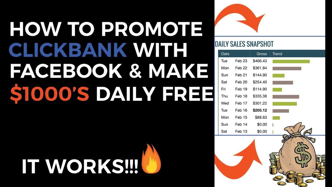 How To Promote Clickbank Products On Facebook For Free (No