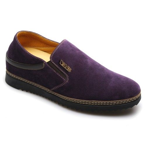 Look For Best Men Look Taller 5 5cm 2 17inches Purple Casual Increasing Height Shoes With The Sku Menhjc L Men High Heels Dress Shoes Men Mens Casual Shoes