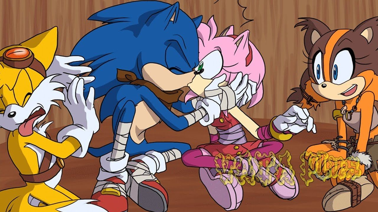 Mini Comic Sonamy Sonic Boom Kiss English