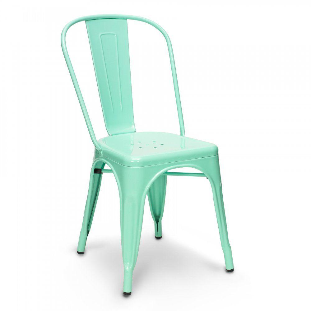 Xavier pauchard peppermint green powder coated side chair