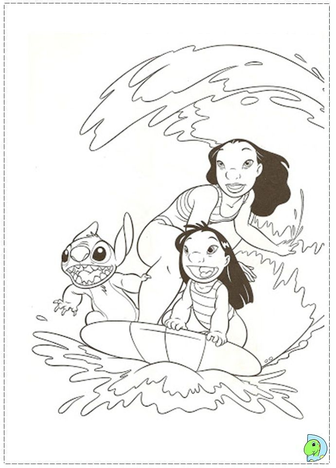 Lilo And Stitch Coloring Page Dinokids Org Stitch Coloring Pages Disney Coloring Pages Coloring Pages