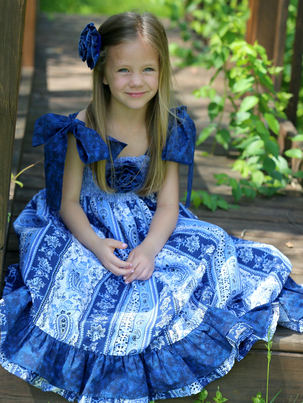 92549c7be Full Length Toddler Dress - Girls Maxi Dress - Romantic Flower Girl ...