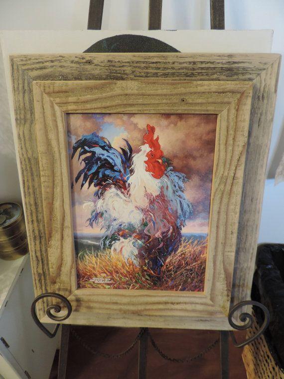Reclaimed wood   custom made cedar  frame by RedRoosterQuiltshop