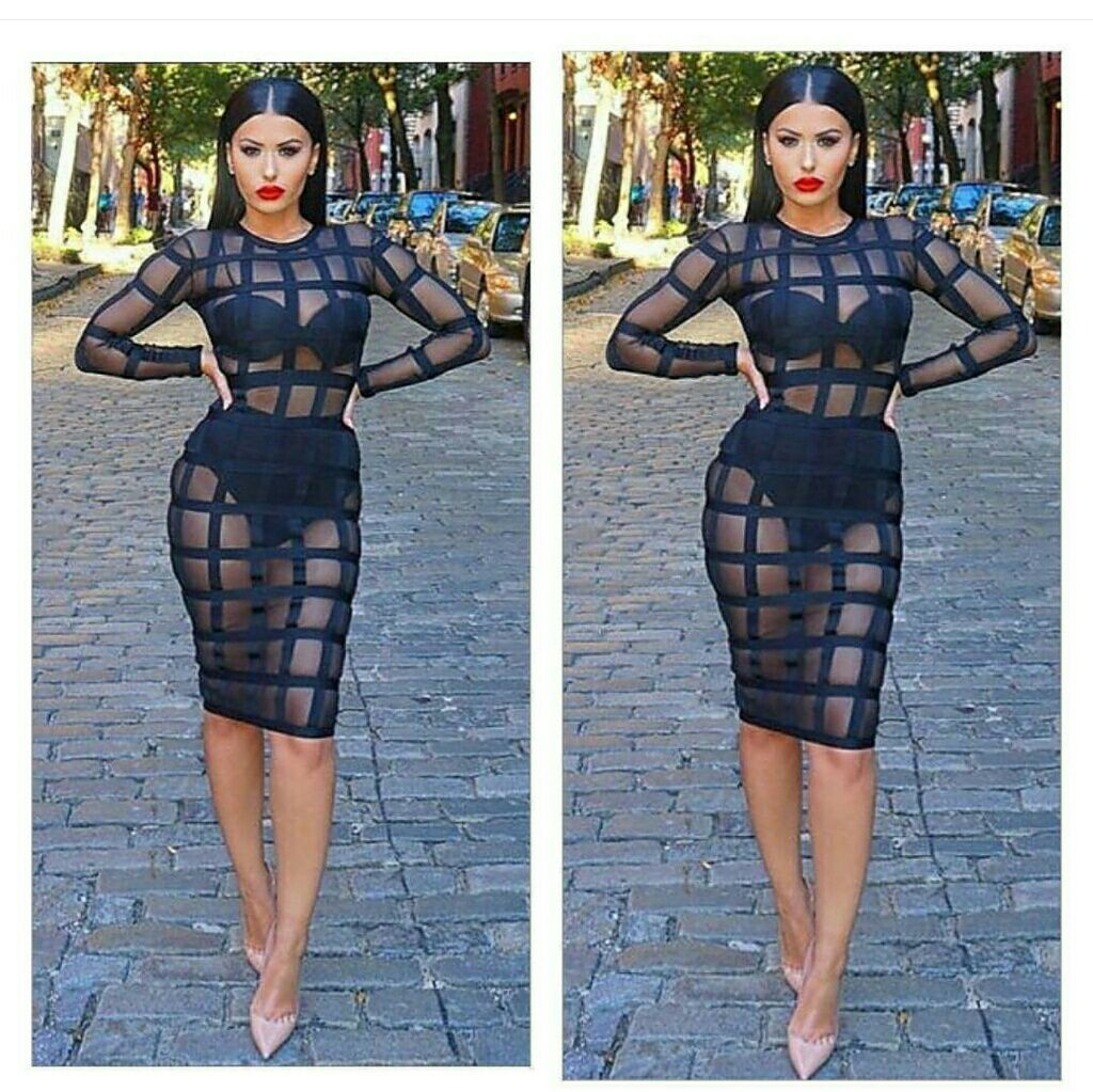 Sheer Caged In Bandage Dress | Products