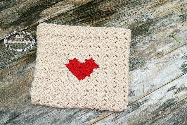 """""""This Heart Envelope is so fast and easy to make, it is almost unbelievable. Heart Envelope by Nicole Riley uses the Corner-to-corner stitch which gives it a bit more texture than a flat stitch. The heart on it gives it the special something for anyone you would like give something from the heart in this …"""