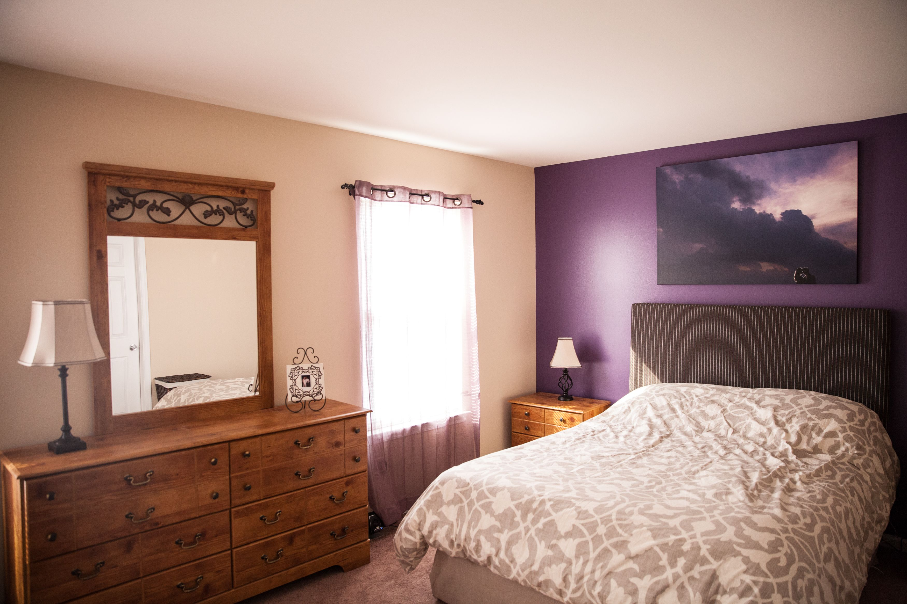 Purple Accent Wall-different color for the rest if the ...