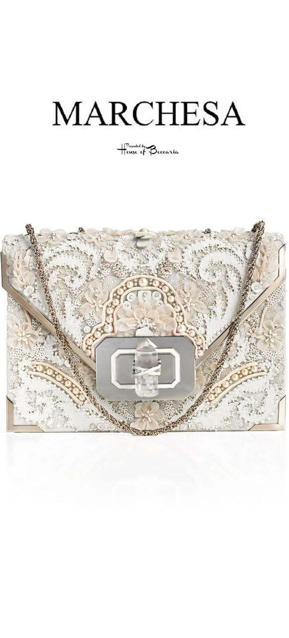 ~Marchesa Fall 2013 Lace & Pearl Embellished Bag | House of Beccaria