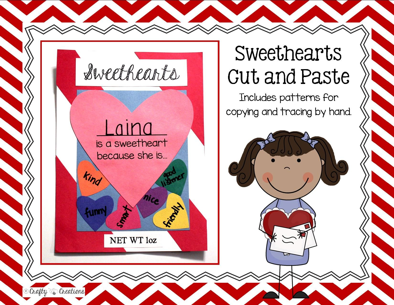 Valentines Day Craft Sweethearts