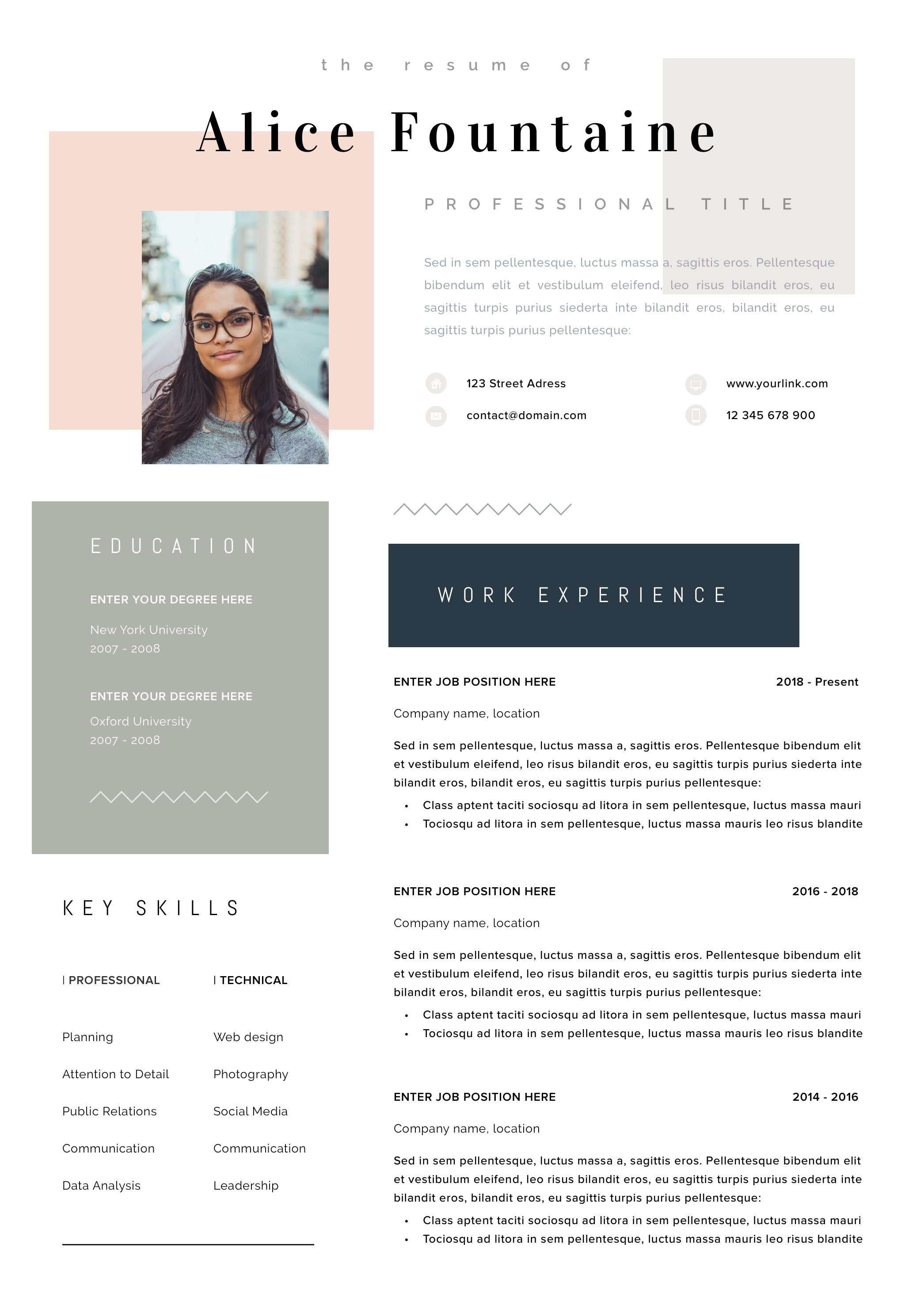 modern resume template cv template, cover letter activities and honors example programmer bachelor of business administration sample