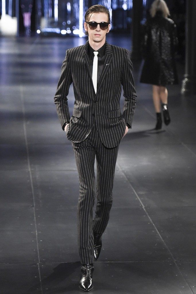 #Menswear #Trends Saint Laurent Men's RTW Fall Winter 2015 Otoño Invierno #Tendencias #Moda Hombre