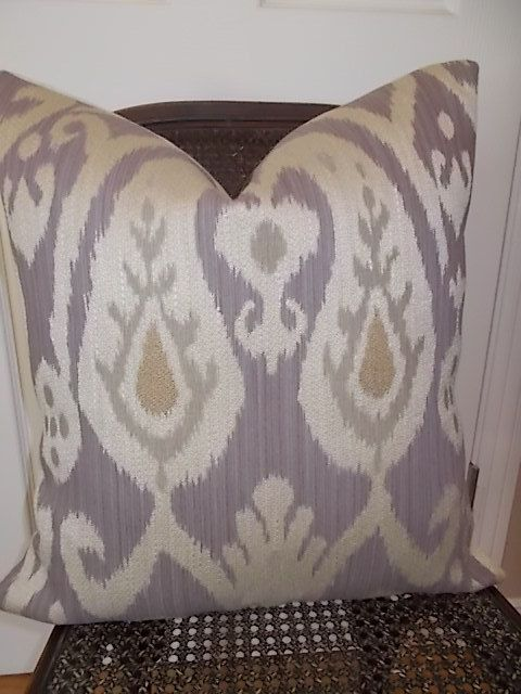 Sale 10 00 Dollars Off Purple Lavender Ikat Pillow Cover