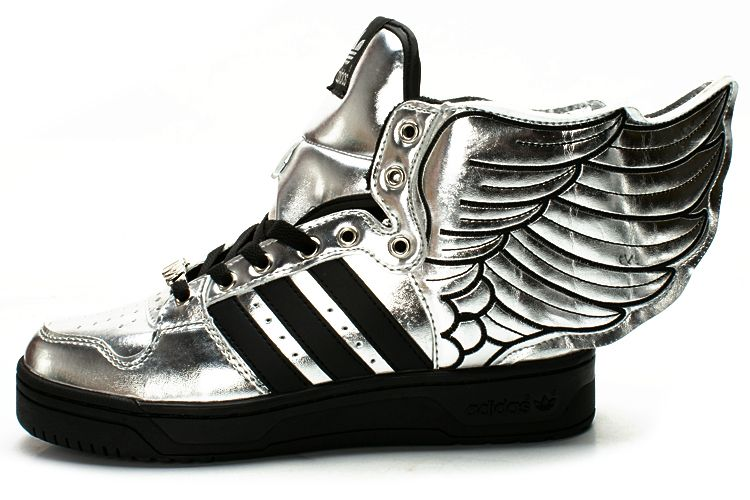 adidas jeremy scott black wings shoes rare 2.0 js gold