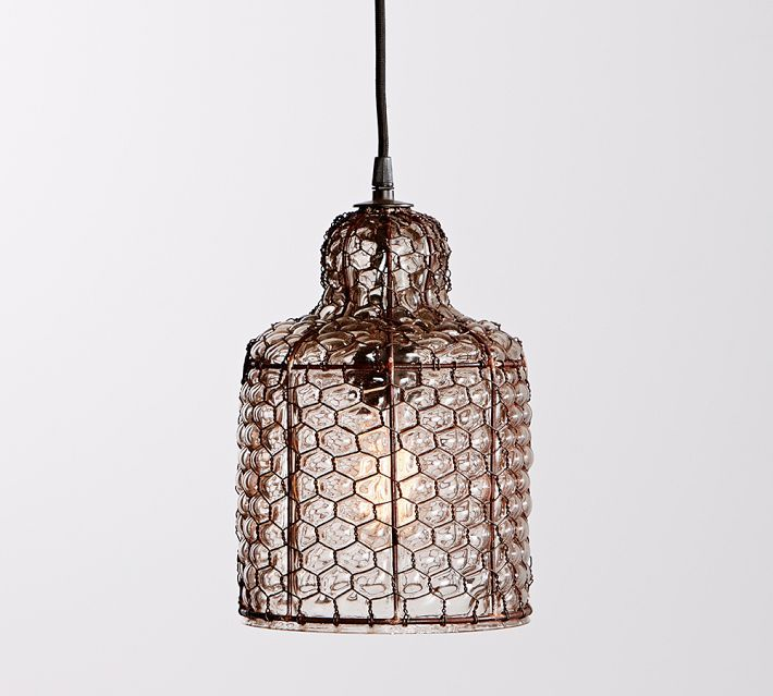 Pottery Barn Ceiling Light Fixtures: Harlowe Wire Pendant, Bronze Finish At Pottery Barn