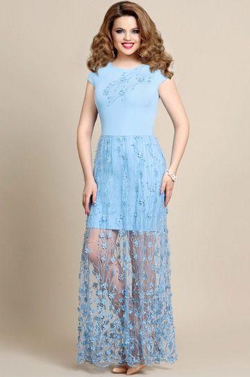 Mira Fashion 4239  Light blue dress