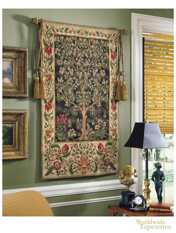 Tree Of Life Tapestry English Decorating