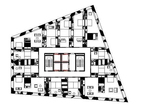 Hotel Astor Place Oma Koolhaas Herzog De Meuron 2000 Hotel Place Hotel Floor Plan Hotel