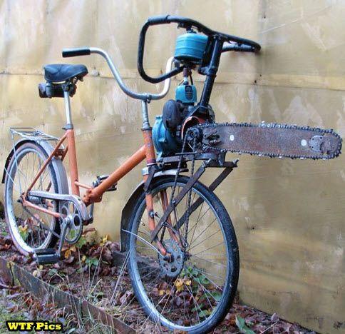 Motorized Zombie Killing Bike.