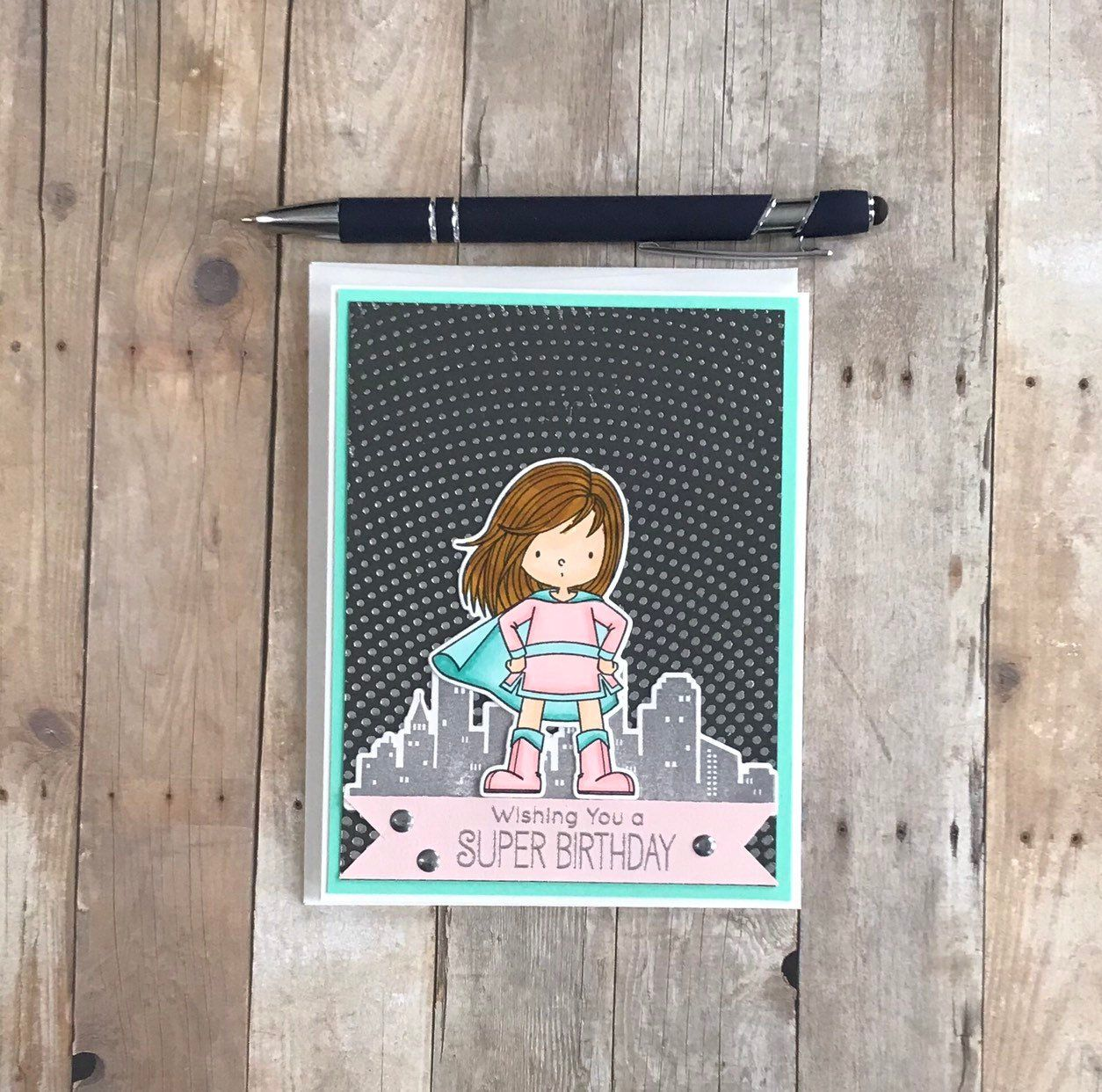Superhero Birthday Card for Girls, Super Girl Card, Super Birthday Card, Best Selling Items, Superhero Gifts, Birthday Cards for Her #superherogifts