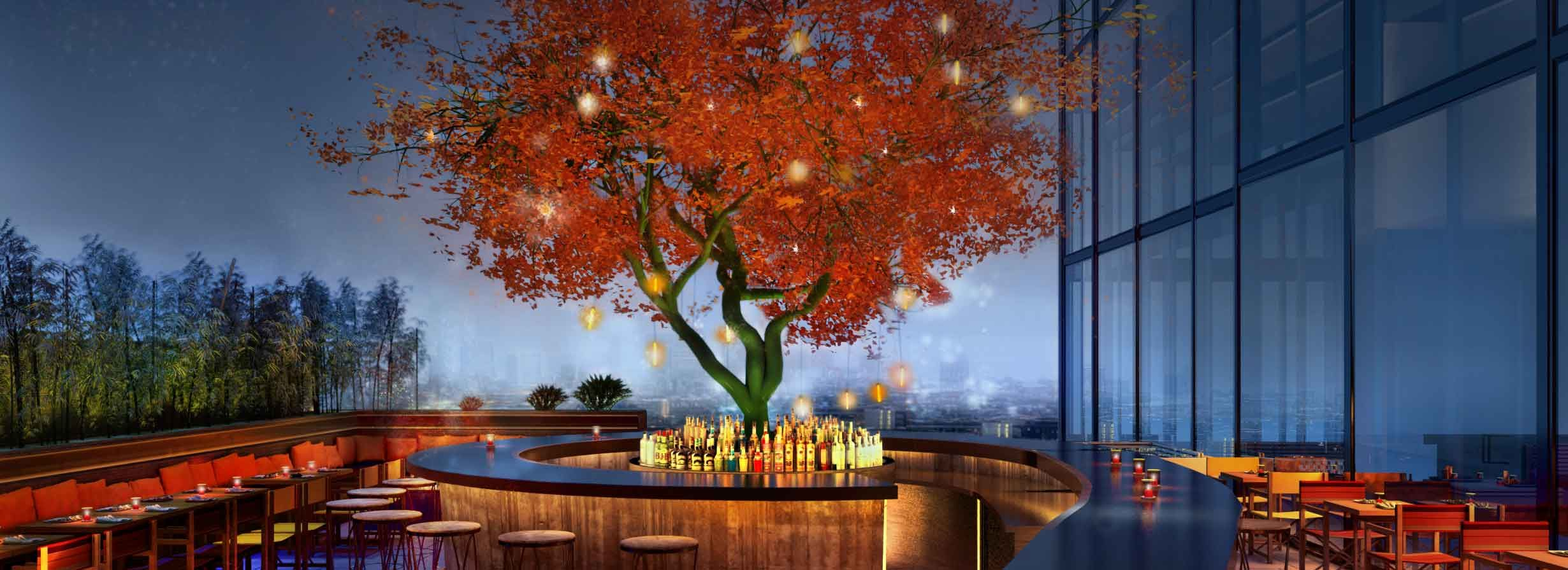 Open air Terrace Bar 37 stories up at Sushisamba in the ...