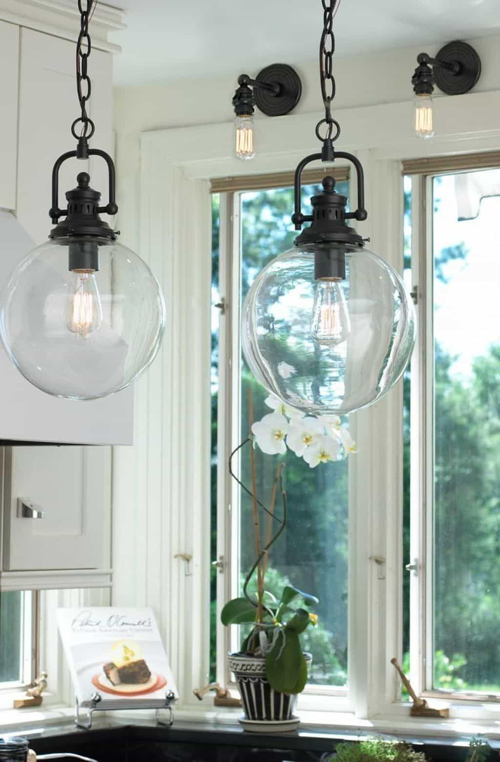 Vintage Glass Pendant Lighting Kitchen pendant lighting