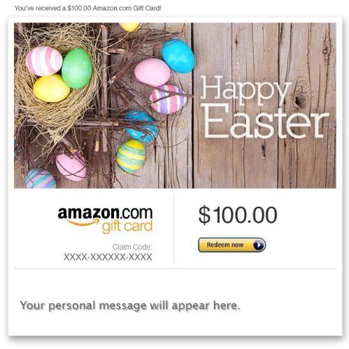 Amazon gift card email happy easter easter egg nest for amazon gift card email happy easter easter egg nest for usd100 negle Image collections