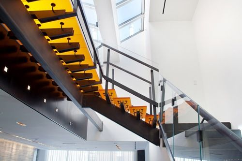 73rd Street Penthouse by Turett Collaborative Architects Escaleras