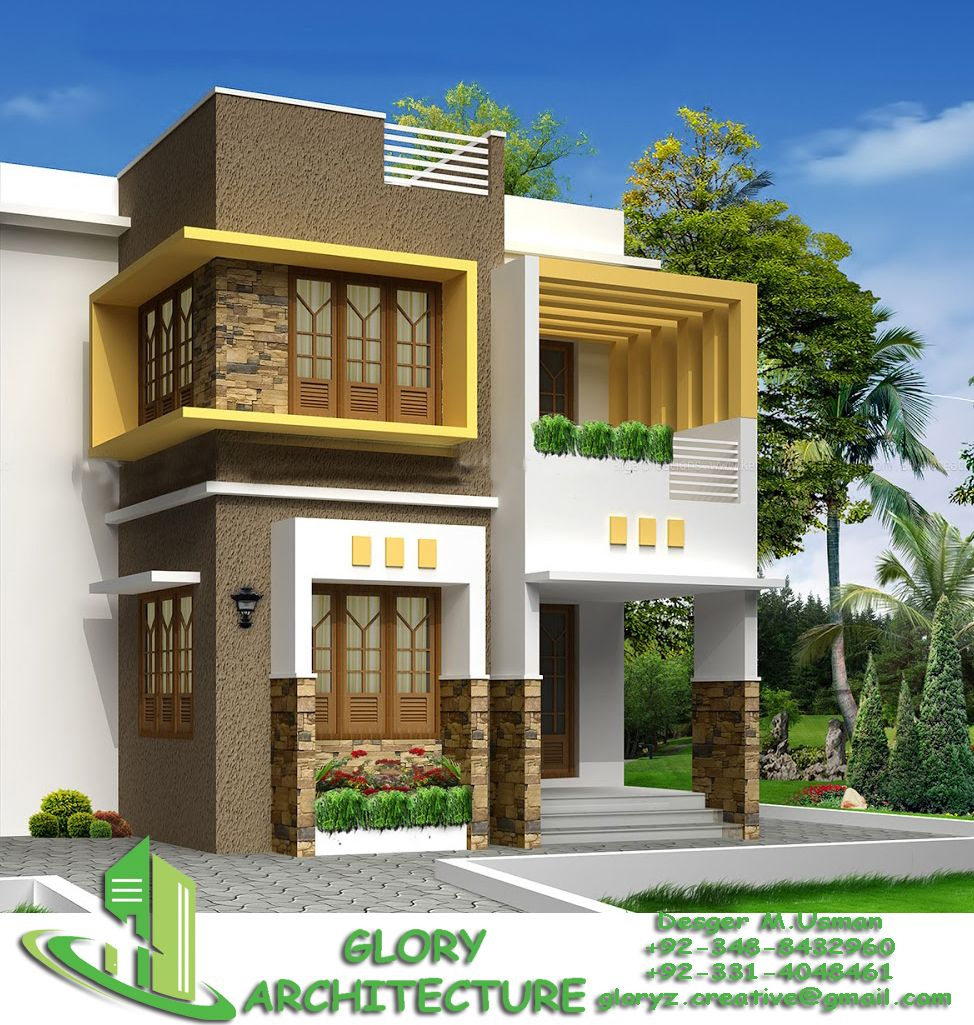 Modern Home Elevation Design: 30x60 Modern House Elevation Pleas Contact For Farther