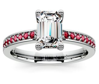 Emerald Pave Ruby Gemstone Engagement Ring in Platinum  http://www.brilliance.com/engagement-rings/pave-ruby-gemstone-ring-platinum