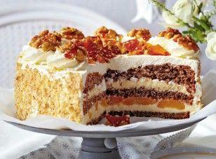 Photo of Walnut and vanilla cream cake with caramel chips Recipe DELICIOUS