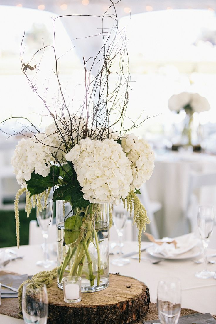 Rustic centerpiece // photo by VUE Photography, see more: http ...