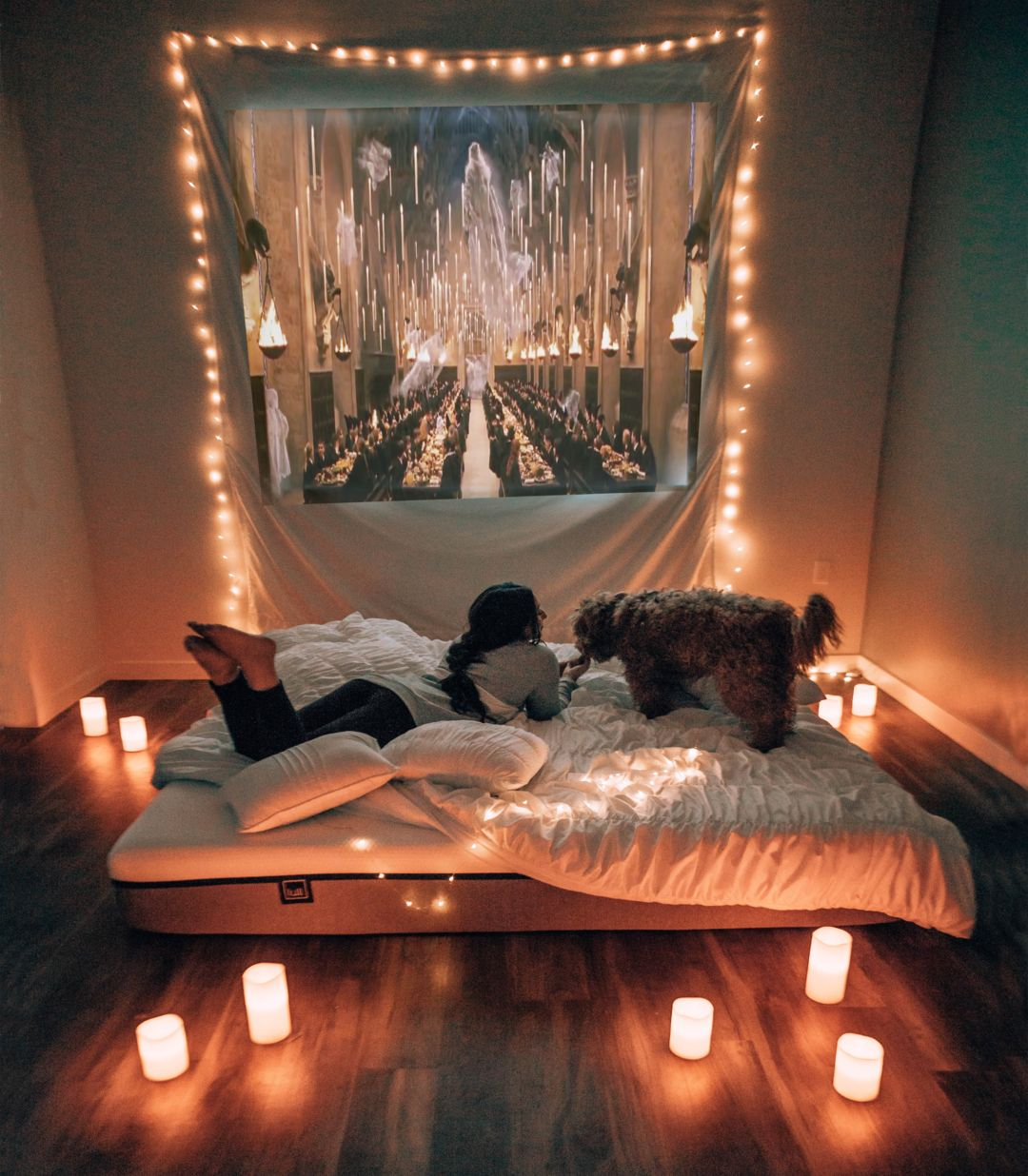 The Comfiest Set Up For A Movie Night See Why The Lull Mattress