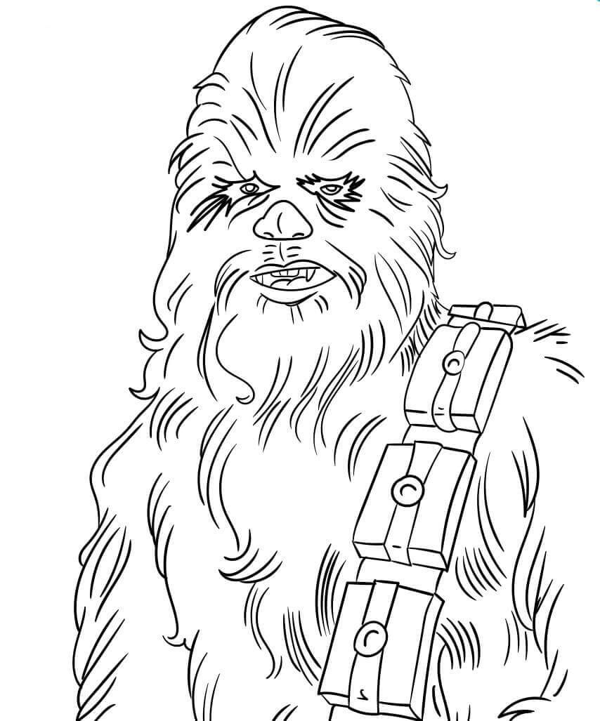 30 Free Star Wars Coloring Pages Printable Coloring Pages Star Wars Chewbacca