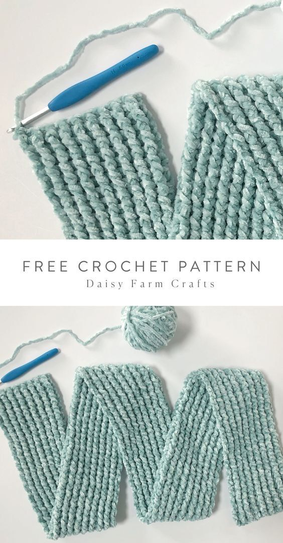 Free Pattern - Crochet Ribbed Velvet Infinity Scarf in ...