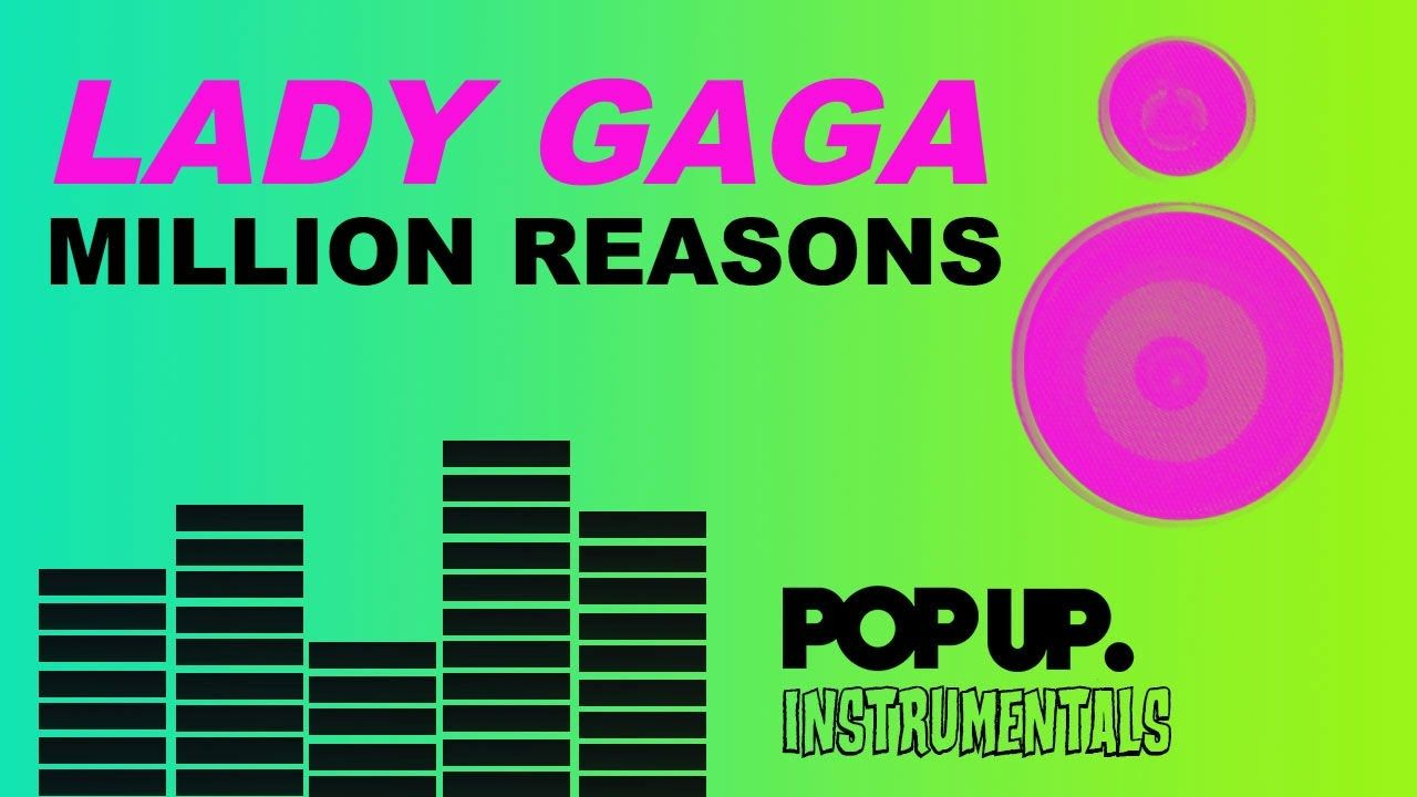 Lady Gaga Million Reasons Karaoke Instrumental Joanne Acoustic