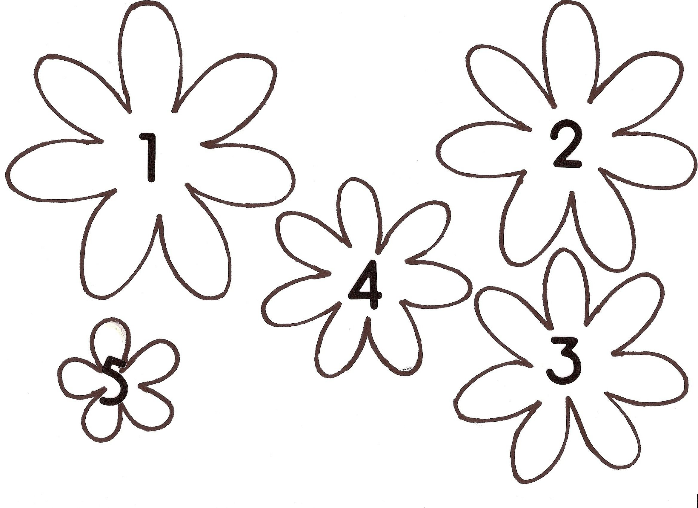 picture regarding Daisy Template Printable identify 3D Flower Template Printable  Charming Paper