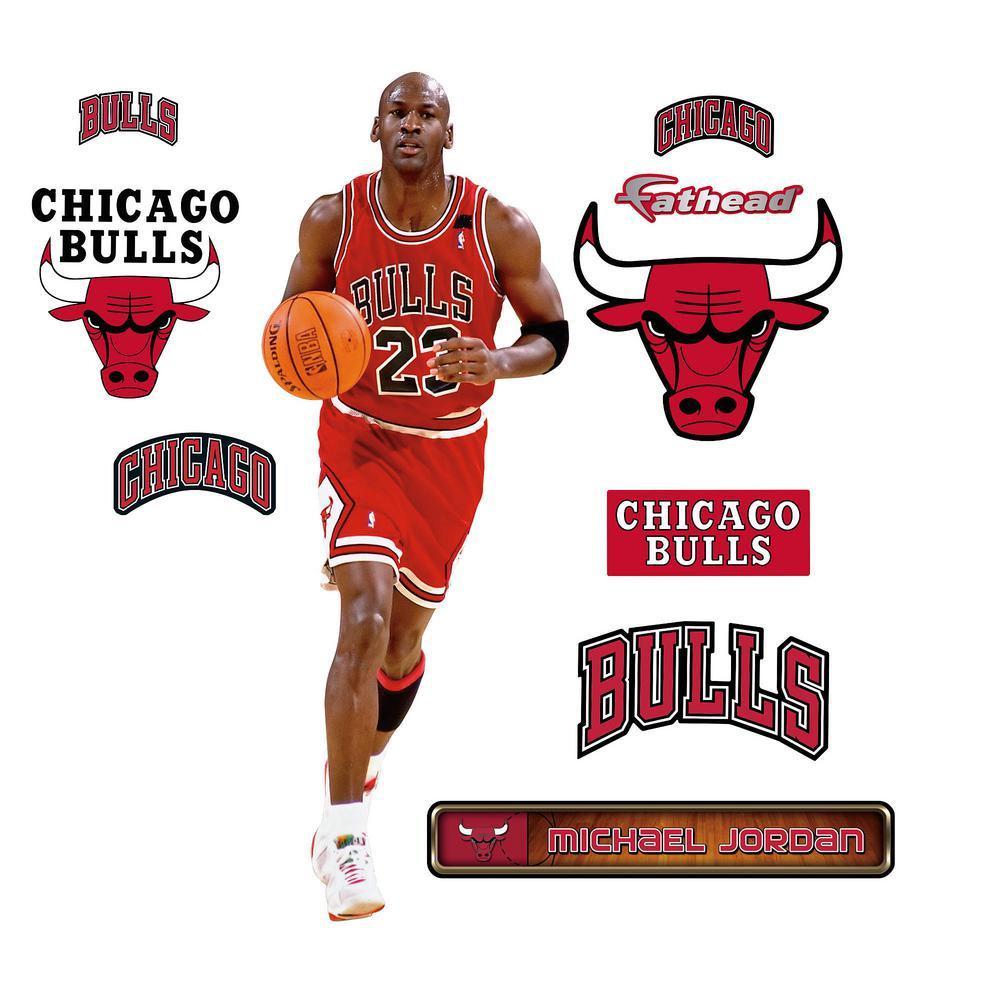 outlet store 82b34 32e60 W Michael Jordan - Fathead Jr Wall Mural, Multi