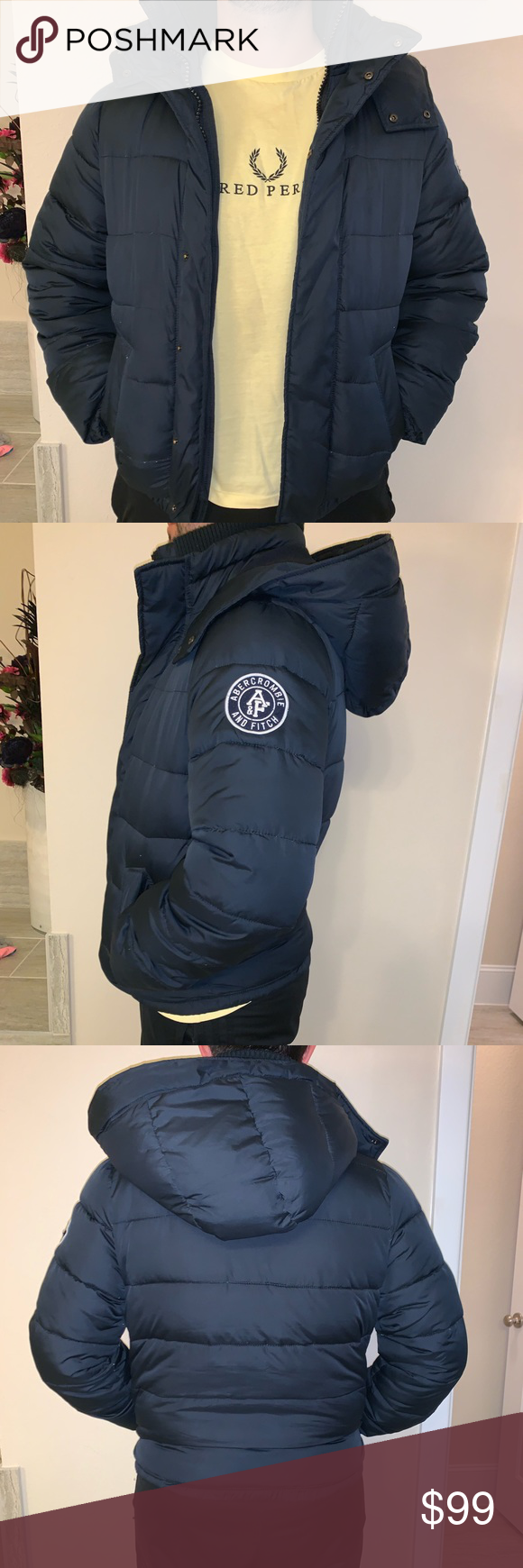 Puffer Jacket Excellent Condition Abercrombie Fitch Jackets Coats Puffers Blue Puffer Jacket Jackets Puffer Jackets [ 1740 x 580 Pixel ]