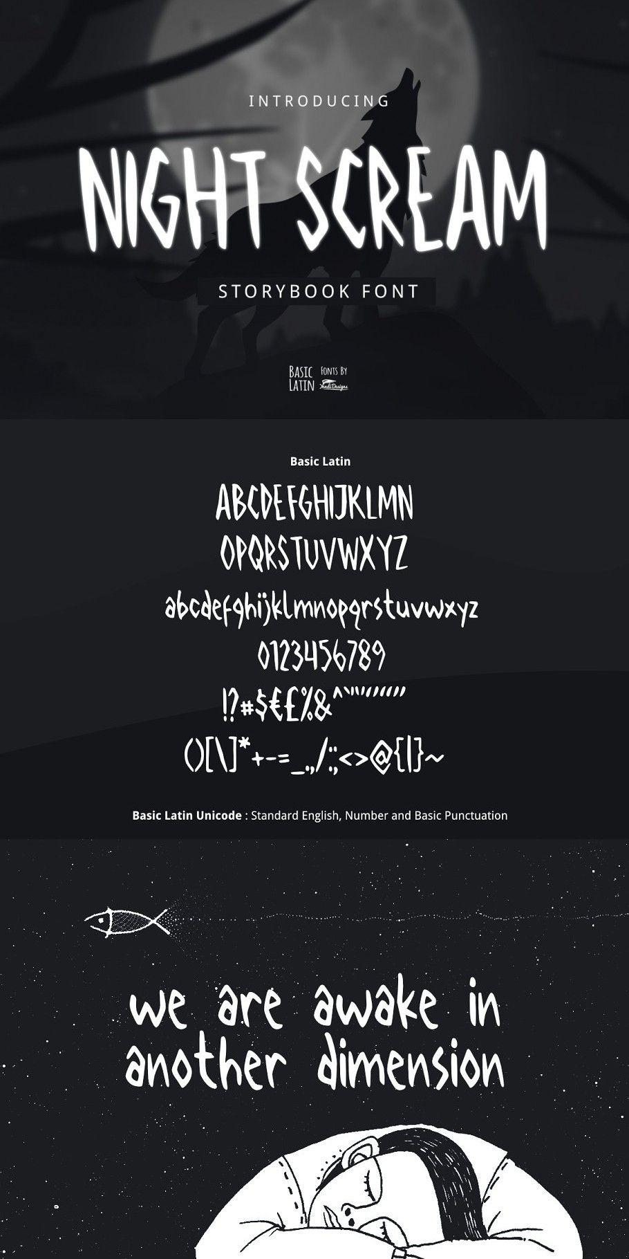 Download Night Scream Font in 2020 | Handmade font, English ...
