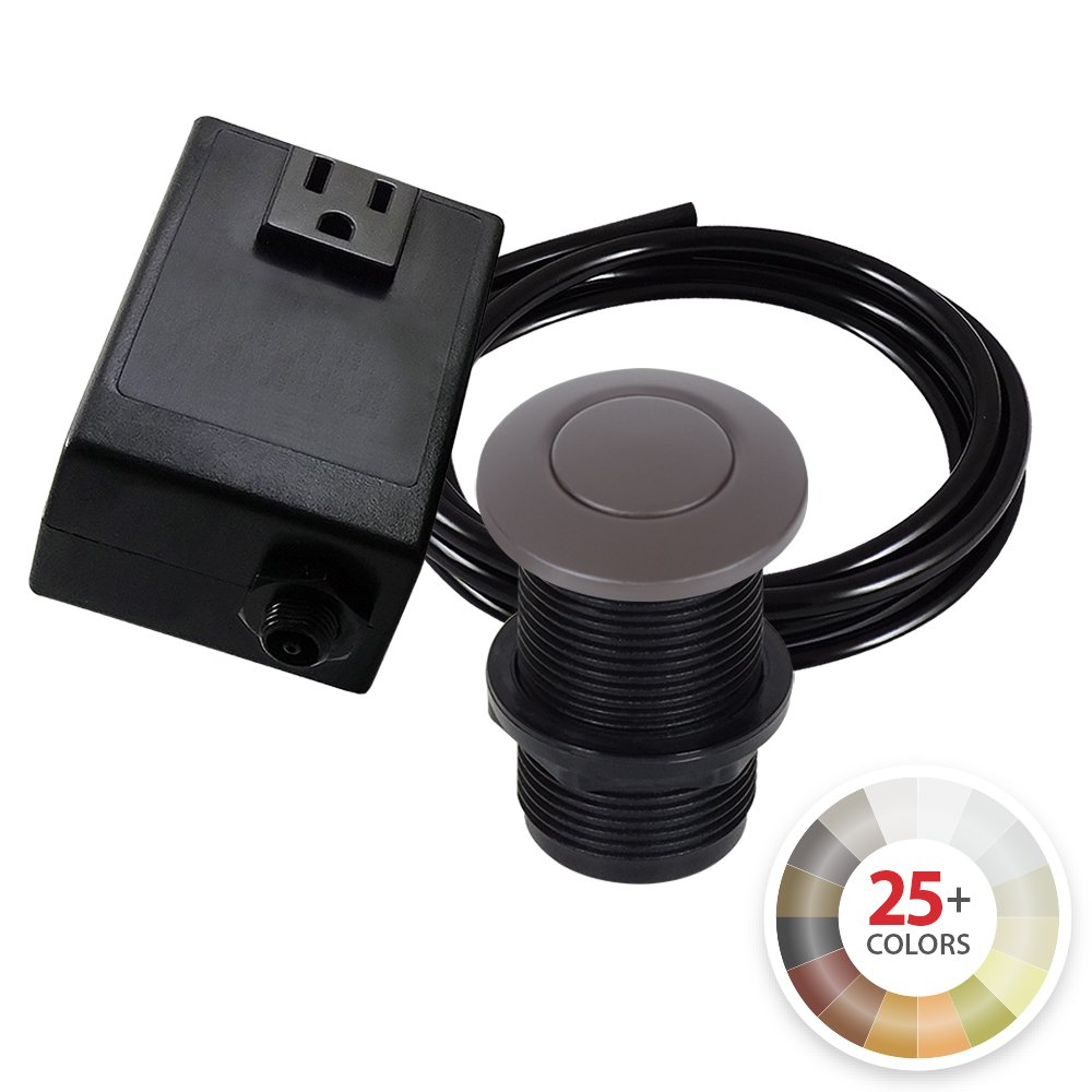 Single Outlet Garbage Disposal Turn On Off Sink Top Air Switch Kit In Oil Rubbed Bronze Compatible With Any Garbage Disposal Garbage Disposal Sink Top Garbage