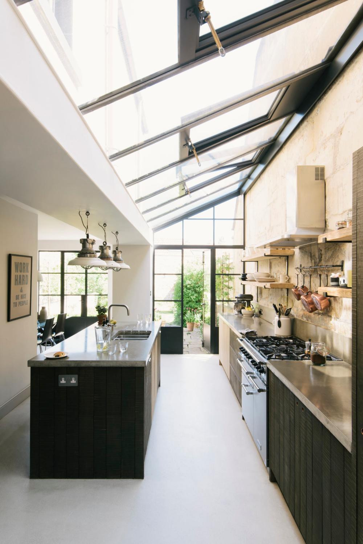 deVol Simon Cox kitchen in a glasshouse addition
