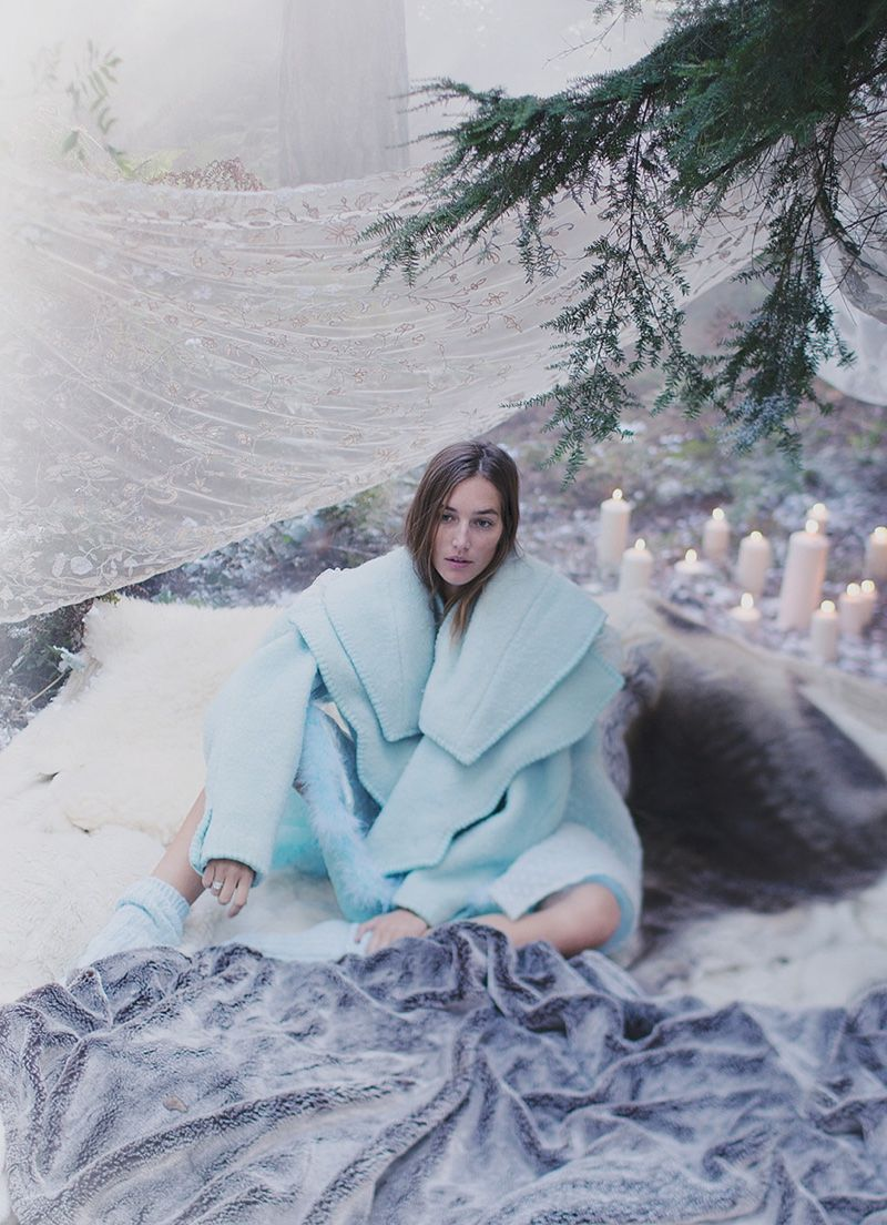 The Snow Queen: Josephine Le Tutour by Alexandra Sophie for Harper's Bazaar UK January 2017