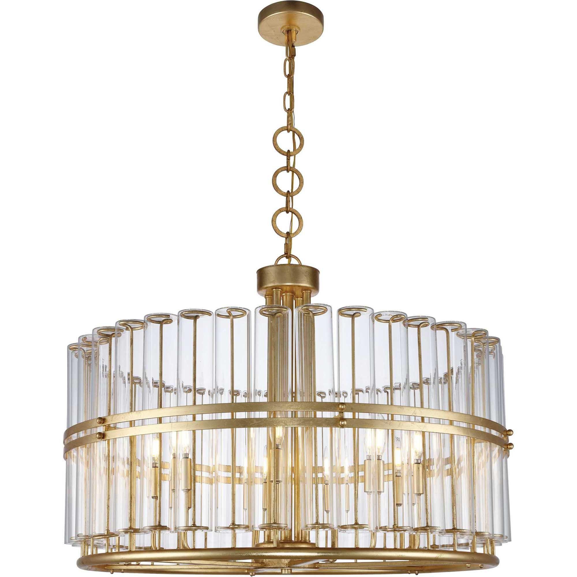Piper 9 light chandelier antique gold leaf finish antique gold piper 9 light chandelier antique gold leaf finish aloadofball Images